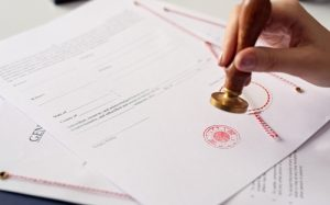 Stamp on legal document similar to Certificate of Lawfulness